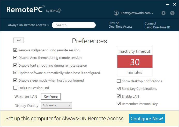 RemotePC_Prefrences