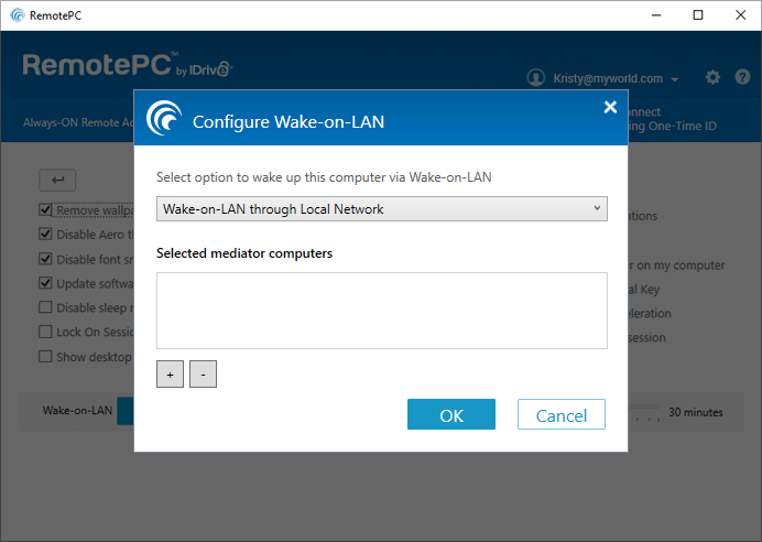 RemotePC_Prefrences_ConfigureWakeOnLAN