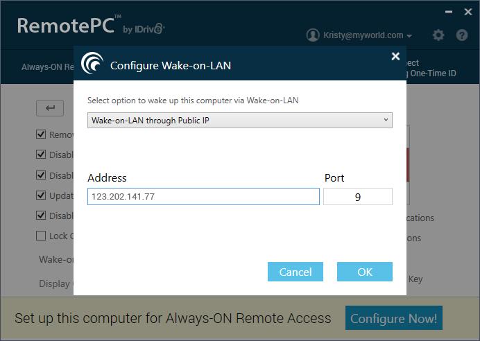 RemotePC_Prefrences_ConfigureWakeOnLAN_IP